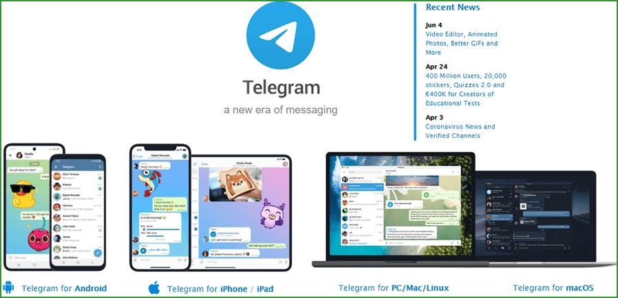 для каких устройств и платформ доступен Telegram