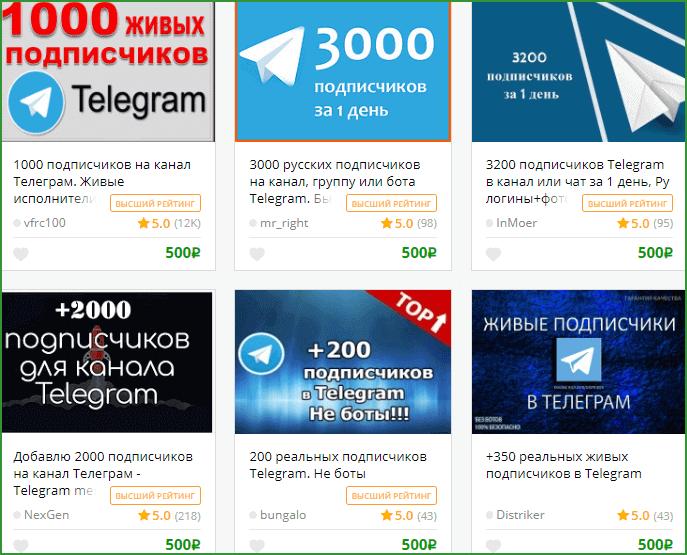 услуги по привлечению подписчиков на канал Телеграм